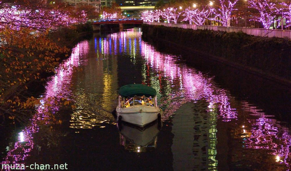 Tokyo Winter Illuminations Meguro River Quot Minna No Illumi Quot