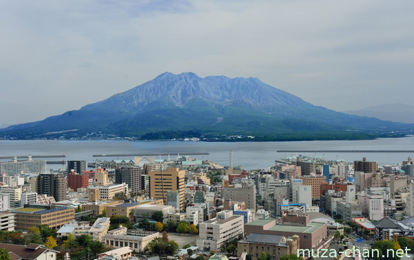 View from Shiroyama Observatory, Kagoshima