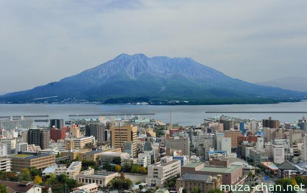 View from Shiroyama Observatory, Kagoshima