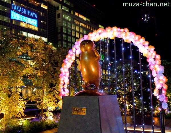 Suica statue, Shinjuku Southern Terrace, Shinjuku, Tokyo