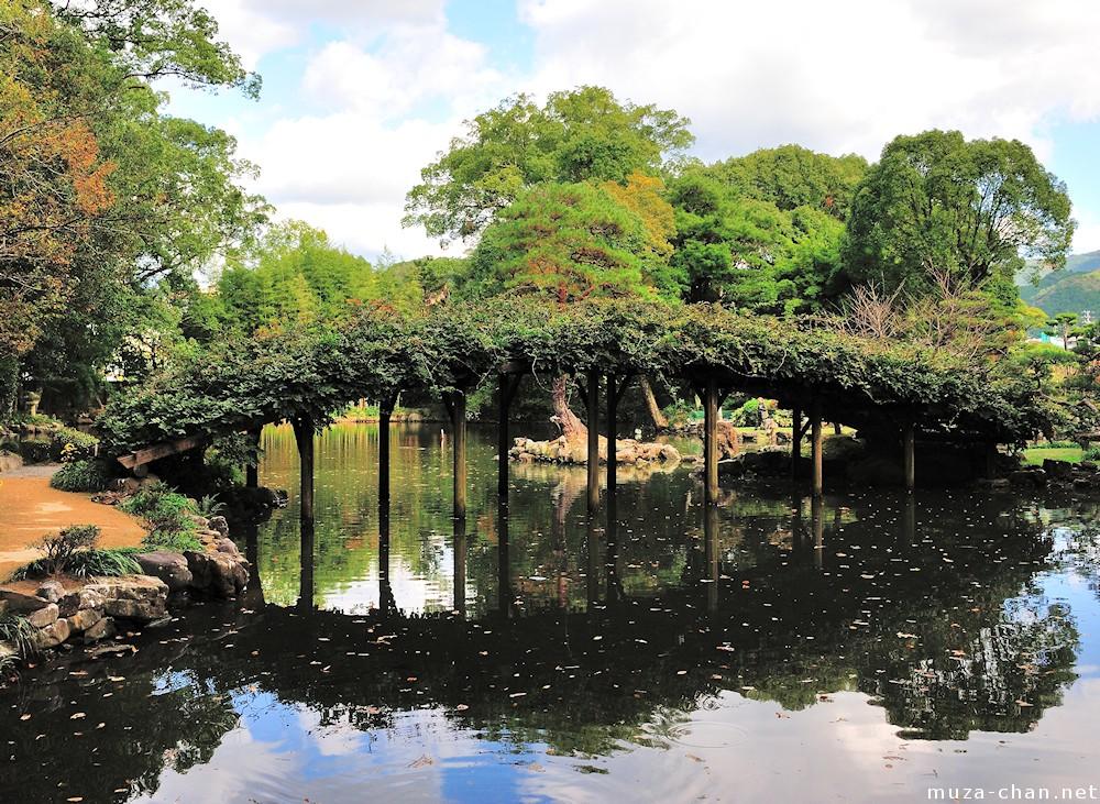 Wisteria arched bridge