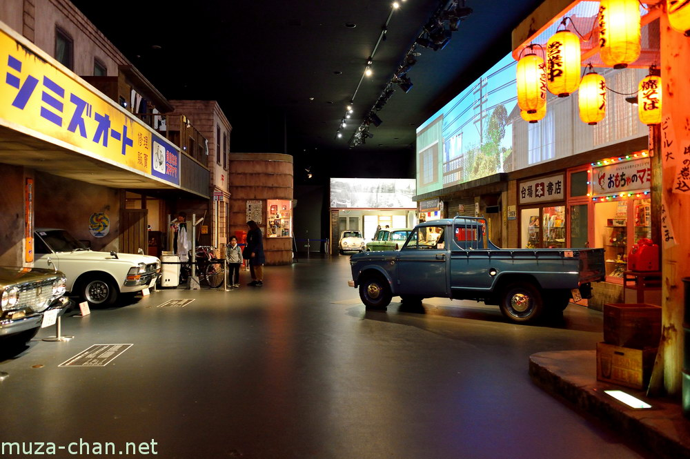 A street from 60s Tokyo at Toyota History Garage