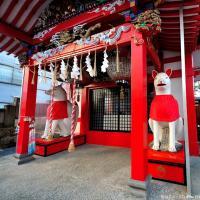 The origin of Kitsune statues