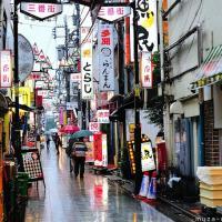 Simply beautiful Japanese scenes, Rainy day on a Nakano backstreet
