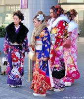 Seijin no hi, girls dressed in furisode