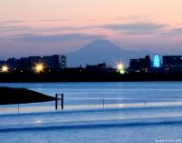 A fulfilled desire, Mount Fuji in twilight