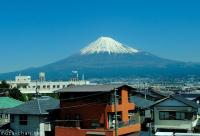 Perfect view of Mount Fuji from Shinkansen
