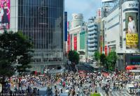 Population density, Shibuya scramble crossing crowd
