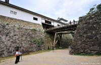 Unique style tower at Hikone Castle