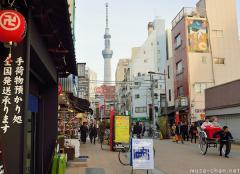 Tokyo Sky Tree viewed from the old Asakusa district