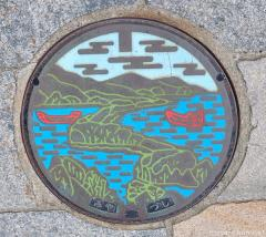 About Japan from... manhole covers, Amanohashidate Bridge to Heaven