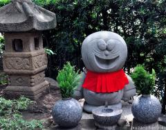 Jizo Doraemon with red bib
