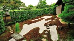 Zen garden patterns, the Dry Stream