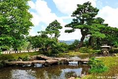 Japanese Garden beauty, the Flying Geese Bridge from Kenroku-en