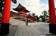 Old Japanese stories, the legend of Fushimi Inari, Kyoto
