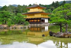 The non-golden floor of the golden Kinkaku-ji