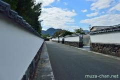 Traditional street in Hagi castle town