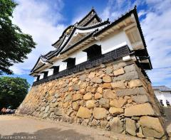 Hikone Castle sloping wall
