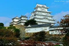 Simply beautiful Japanese scenes, Himeji Castle in the autumn