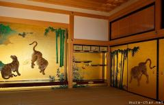 Tiger screens at Nagoya Honmaru Palace