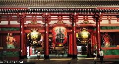 Hozomon Gate by night