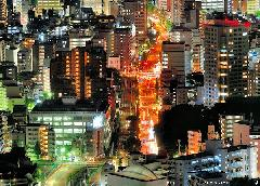 Ikebukuro by night, long-exposure photography