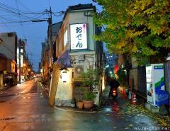 Japanese Narrow Buildings Photo 23, Restaurant in Fukushima, Osaka