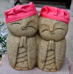 Cutest Jizo with red hats