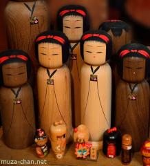 Kokeshi, Japanese wooden dolls