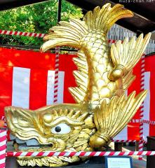 Nagoya Castle's golden shachi