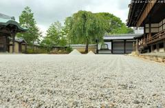 Japanese rock gardens, sand and gravel