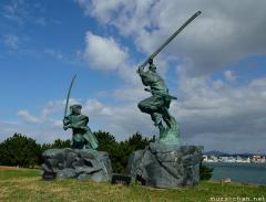 Ganryu-jima, the site of the most famous samurai duel