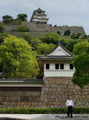 Marugame castle main keep and stone walls
