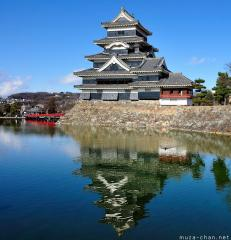 The 2000th Japan Photo of the day, Matsumoto Castle dazzling reflection