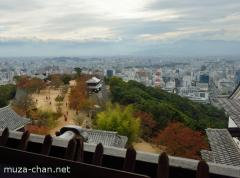 Spectacular view from the Matsuyama castle tower