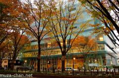 Sendai Mediatheque in autumn night