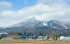 Perfect view of  Mount Bandai, the Fuji from Aizu