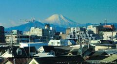 Great views from train, Mount Fuji from the Chuo Line
