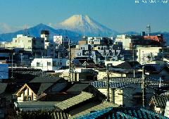 Perfect view of Mount Fuji from Chuo line