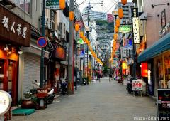Simply beautiful Japanese scenes, Nagasaki street