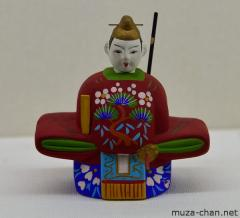 Traditional Japanese clay doll, Tenjin