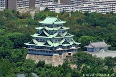 Nagoya castle bird's eye view