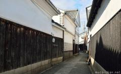 Traditional narrow street in Kurashiki