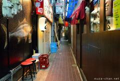 Yokocho narrow alley in Namba