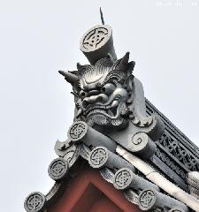 Oni-gawara, traditional Japanese decorative roof tiles