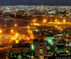 Osaka bird's-eye night view