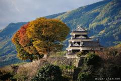 Simply beautiful Japanese scenes, Ozu Castle at sunset