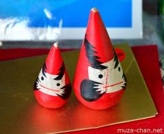 Good luck charms for the New Year, Sankaku Daruma Dolls