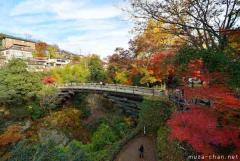 Simply beautiful Japanese scenes, Saruhashi in autumn
