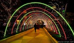 Winter illumination in Japan, Shiodome tunnel of lights